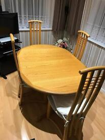 John Lewis Extending Dinning table and high backed chairs