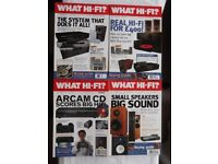 4 issues What Hi-Fi - September 1996, October 2000, March 2001 & May 2001