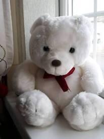 Medium white soft bear