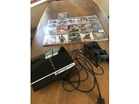 PS3 for spares/3 Sony Controllers/games & all leads