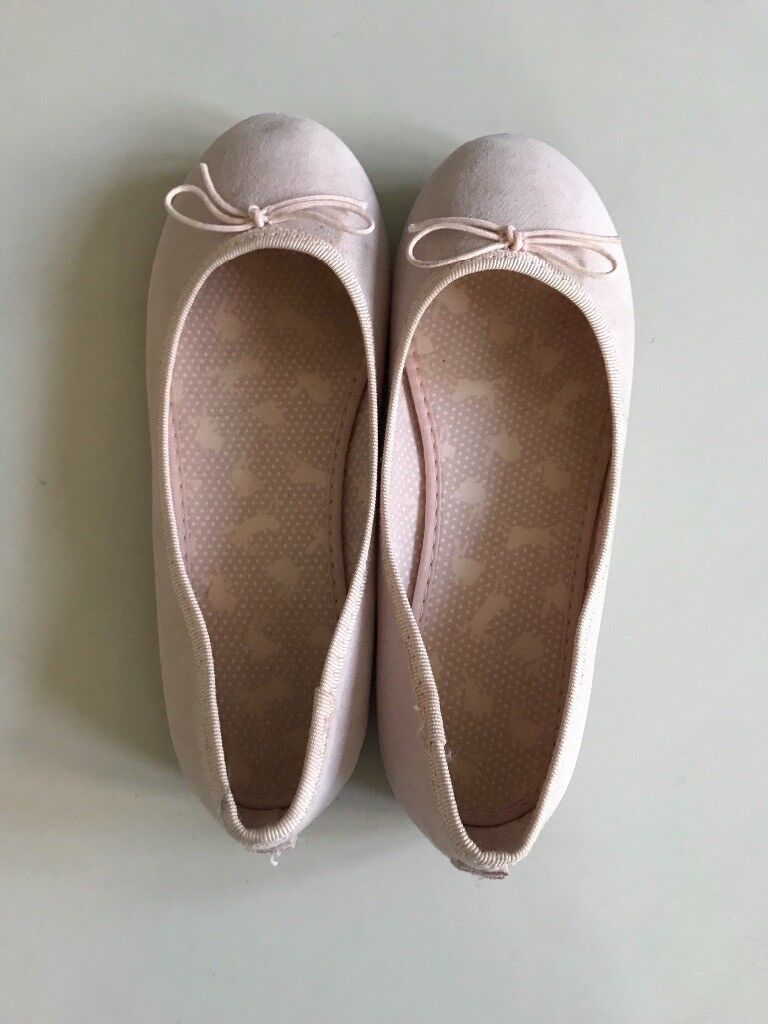 H&M pink ballet pump shoes size 11 never worn