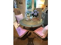 Seagrass table and chairs