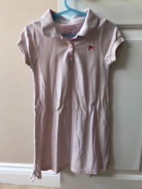 Cath Kidston Light Pink Polo Shirt Dress. Age 2-3yrs