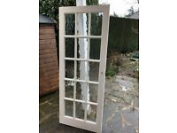 5 wooden internal doors for sale (4 glazed, and 1 plain)