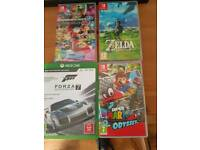 Switch and Xbox one games