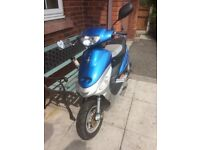 Blue/Silver pulse moped 49cc