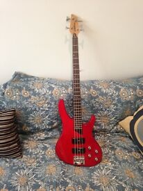 Washburn Xb-400 Tantum Bass Guitar Wine Red