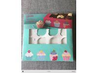 Various (17) Sainsburys cake/cupcake boxes and stands