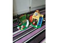 Peppa pig tree house and weebles wind and wobble play house