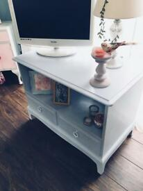 TV UNIT TELEVISION CUPBOARD STAND SHABBY CHIC
