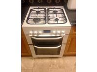 GAS COOKER WITH ELECTRIC OVEN AND GRILL