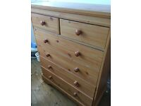 Chest of drawers and wardrobe - quick sale