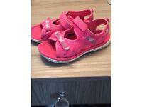 Girls Clark's pink sandals
