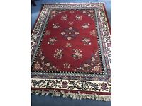 Rug Short Pile (Red)- Unused 233 x 165cm