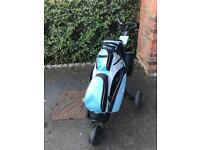 Masters golf bag and trolley