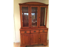 High glass doors(3) and doors(2) cupboard (yew) - to match dining table / chairs
