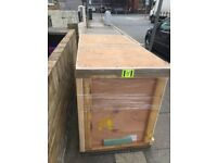 Small Solid shipping container/wood box