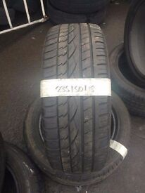 235/50/18 quality part worn tyres
