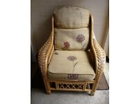 TOP QUALITY CANE/WICKER ARMCHAIR.