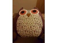 Purple Patterned Small Owl Cushion