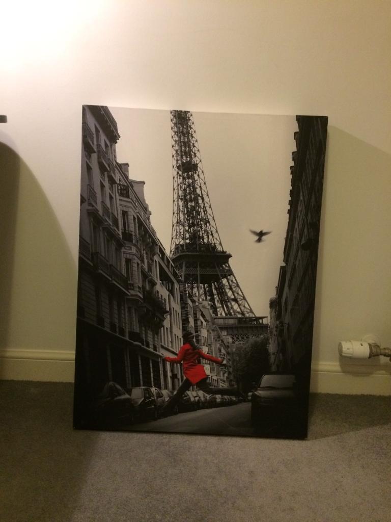 Paris Canvas Wall Print 77x57cm