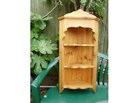 Corner shelf, solid pine, lovely design, very elegant