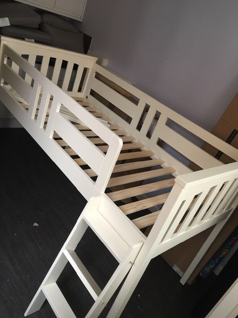 Solid pine midsleeper bed