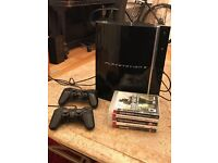 PlayStation 3 60GB Consule with 5 games