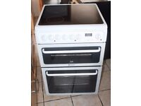 6 MONTHS WARRANTY Hotpoint 60cm, double oven electric cooker FREE DELIVERY