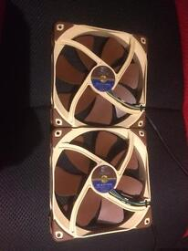 2x Noctua AF14 Radiator fans and 1x NF-F12 PWM fans