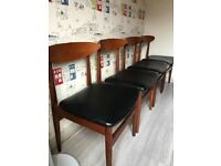 Vintage mid century Jentique dining chairs x 4