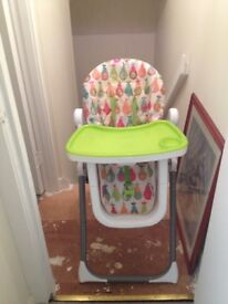 High chair / good condition,adjustable seat