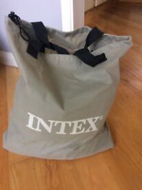 Intex Deluxe raised pillow rest air bed, single, including electric pump