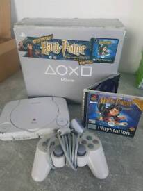 PS1 Console Harry Potter edition