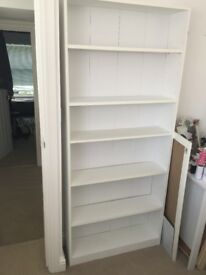 White MDF shelves, very good condition! PICK UP ONLY. £25