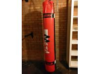 Aasta filled 5ft Heavy Bag, Punch Bag Set, Foam Mitts and wall bracket included