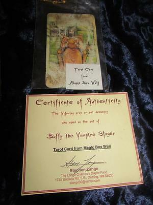 BUFFY THE VAMPIRE SLAYER TV PROP. TAROT CARD FROM THE MAGIC BOX WALL. Certified
