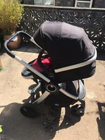 Chicco Urban Plus Travel System - Red, Plus Car Seat