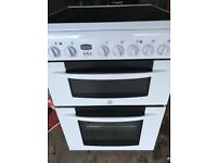 white electric cooker with double oven for sale