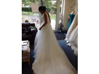 Bailey by Pure Bridal (Romantica) size 8 to 12 v-neck ballgown tulle wedding dress