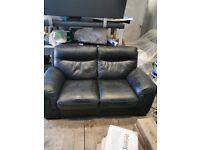 Sofology 2 seater leather sofa