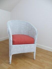 Antique Lloyd Loom style chair. Nice refurbishment project.