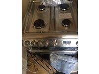 Silver Gas Cooker 60cm...Mint Ex Display..free delivery