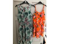 Girls h & m dress and jumpsuit 10-12 years x 2