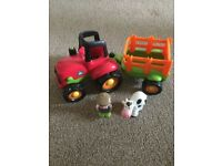 Early Learning Tractor and Trailer