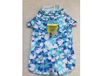 Blue Hawaii style shirt for dogs