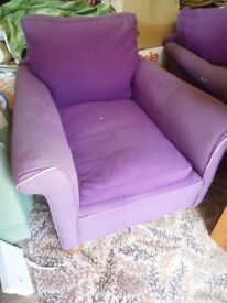 Vintage Large Lounge Armchairs