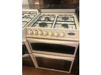 60CM WHITE DUEL FUEL BELLING GAS COOKER
