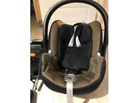 Cybex Aton Q car seat with base