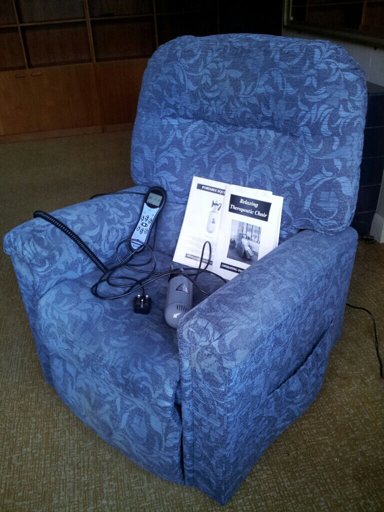 Adjustamatic riser/reclainer/massaging armchairprice reducedin Chorleywood, HertfordshireGumtree - This is an Adjustamatic Blenheim armchair their top of the range model (search for it online for details). It cost a cool £5,000 when new. It rises and reclines and has a massage function built in. There also is a hand held massager for those hard...